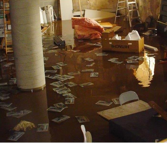 Basement filled with water