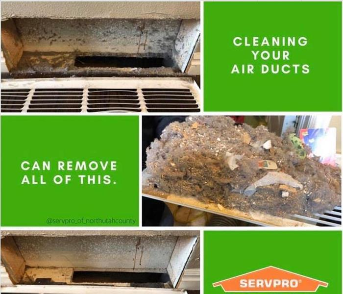 customers dirty ducts that we cleaned